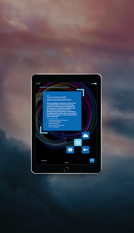 iPad Landningssida Cloud Care